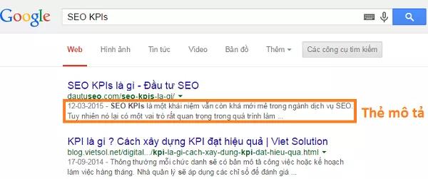 Thẻ meta description cần phải được viết chuẩn seo để giúp cho website được google đánh giá tốt và nằm trên top kết quả tìm kiếm