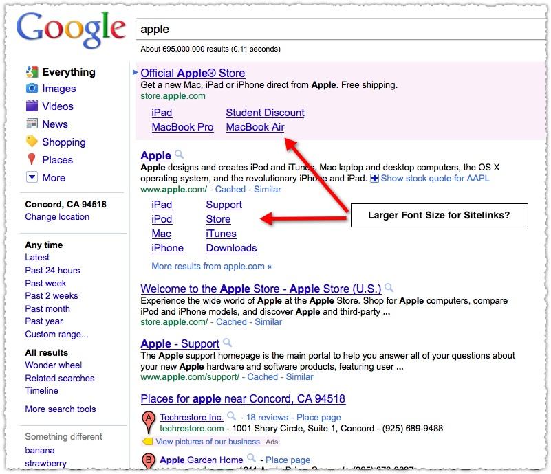 Cách hiển thị sitelink trên Google
